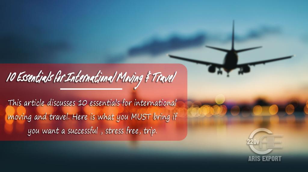 essentials for international moving